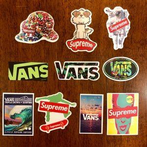 10 Vans & Supreme stickers